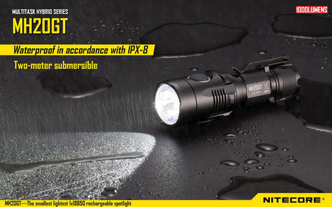 NITECORE MH20GT LONG THROWING CREE XP-L HI V3 USB RECHARGEABLE LED FLASHLIGHT-1000 LUMEN