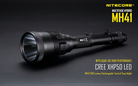 NITECORE MH41 2150 LUMEN 541 YARD THROW RECHARGEABLE LED FLASHLIGHT