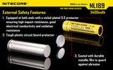 NITECORE NL1834 3400MAH HIGH CAPACITY 18650 RECHARGEABLE BATTERY