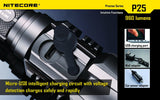 NITECORE P25 960 LUMENS RECHARGEABLE LED FLASHLIGHT