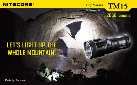 NITECORE TM15 3X CREE XM-L2 TINY MONSTER RECHARGEABLE LED FLASHLIGHT 2650 LUMENS