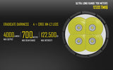 NITECORE TM16 4X CREE XM-L2 U2 LED FLASHLIGHT - 4000 LUMEN