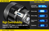 NITECORE TM36 LUMINUS SBT-70 LED RECHARGEABLE LED FLASHLIGHT 1800 LUMENS