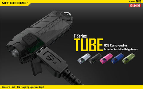 NITECORE T SERIES TUBE 45 LUMENS USB RECHARGEABLE LED KEYCHAIN LIGHT