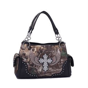 Bethany Concealed Carry Cross & Wings Tote EO