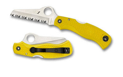 SPYDERCO SAVER SALT LW YELLOW H1