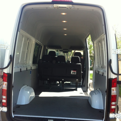 Bare van interior before campervan conversion