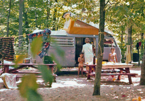 VW campervan on Prince Edward Island, 1972