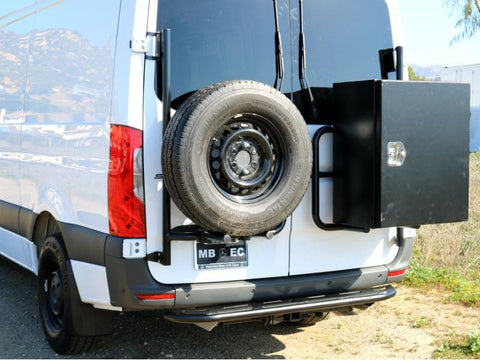 Mercedes Sprinter (2019+) Rear Door Tire/Box Carrier - Campervan HQ