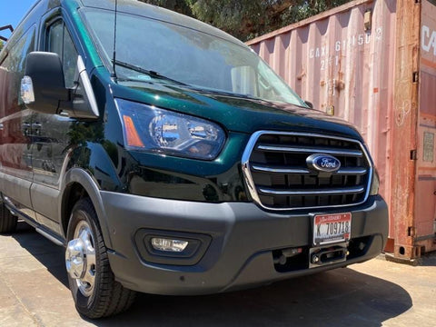2020+ Ford Transit Hidden Winch Mount Right Side View - Campervan HQ