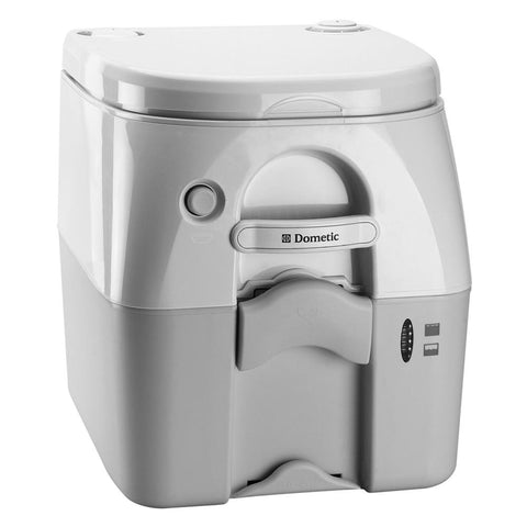 Dometic - SeaLand 975MSD Portable Toilet 5.0 Gallon - Grey w/Brackets - Campervan HQ