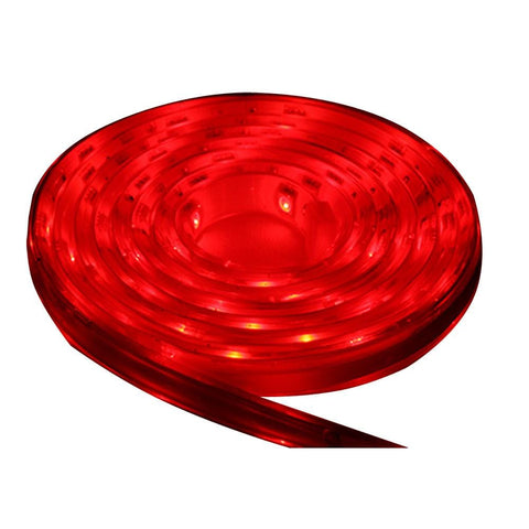 Lunasea Flexible Strip LED - 5M w/Connector - Red - 12V - Campervan HQ