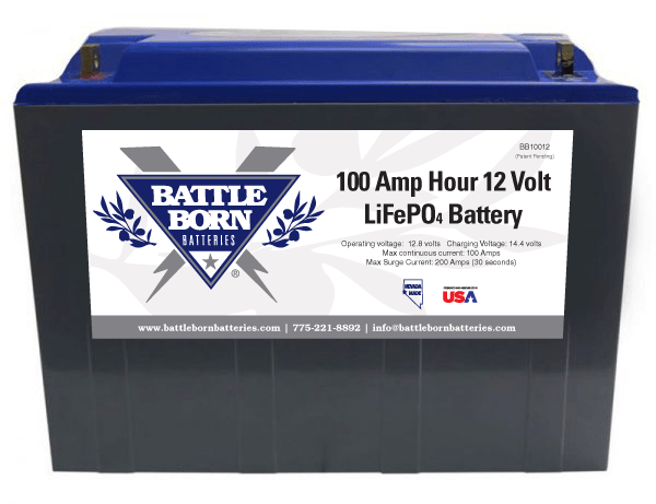 Deep Cycle Lithium Battery Battle Born 12v 100ah
