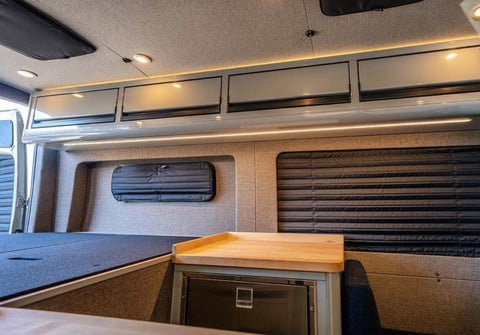 Bunk Window Covers for Vans (Black) - Campervan HQ