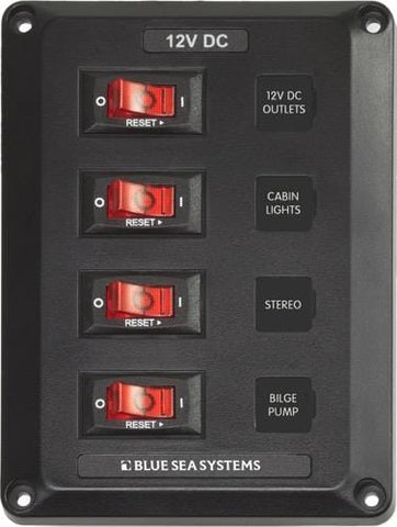 Blue Sea Switch Panel (4-Position, 4350)  - Campervan HQ