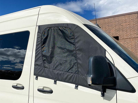 Mercedes Sprinter Driver and Passenger Door Screens (Bunker Series) - Campervan HQ
