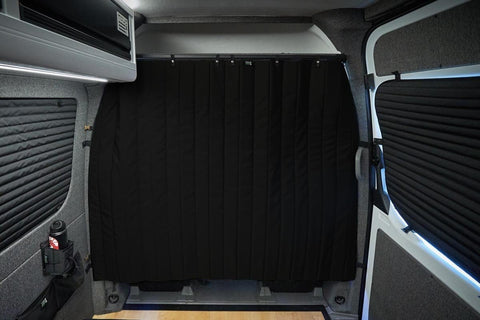 Mercedes Sprinter 2007-2019+ Privacy Cab Curtain (Bunker Series), Inside View- Campervan HQ