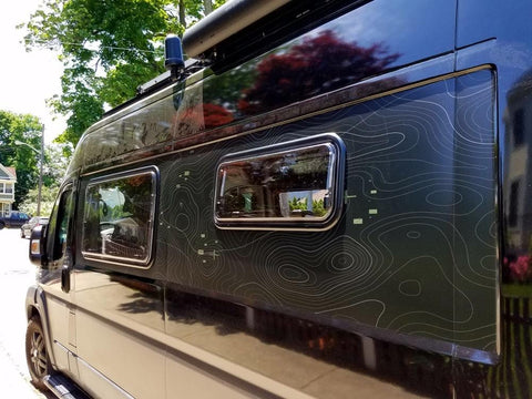 Double-Pane RV Window (300x700mm) on Ram Promaster Van - Campervan HQ