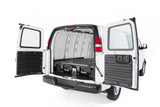 Decked Drawer System for Chevy Express/GMC Savana Cargo Van Right Rear Close View - Campervan HQ