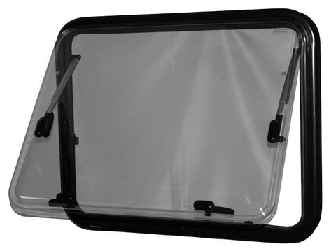 Double-Pane RV Window (Partially Open, 550 x 700mm) - Campervan HQ