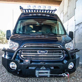Ford Transit Front Winch Bumper (Shown with Winch Mounted) - Campervan HQ