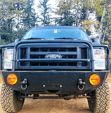 Ford E350 Van Front Winch Bumper (2008-2014) Front Close-Up - Campervan HQ