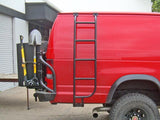 Ford E350 Van Side Ladder (2008-2014) Passenger Side Right View - Campervan HQ