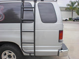 Ford E350 Van Side Ladder (2008-2014) Close-up - Campervan HQ