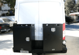 Ford Transit Rear Bumper With Swing Arms (Deluxe Boxes) - Campervan HQ