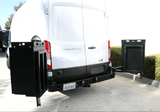 Ford Transit Rear Bumper With Swing Arms (Detail View) - Campervan HQ