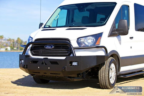 Ford Transit Front Winch Bumper With Brush Guards - Campervan HQ - 2