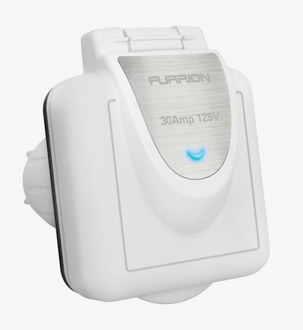Furrion Power Inlet (30A, Square, White) - Campervan HQ
