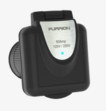 Furrion Power Inlet (50A, Square, Black) - Campervan HQ
