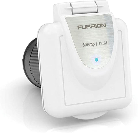 Furrion Shore Power Inlet (50A, Square, White) - Campervan HQ