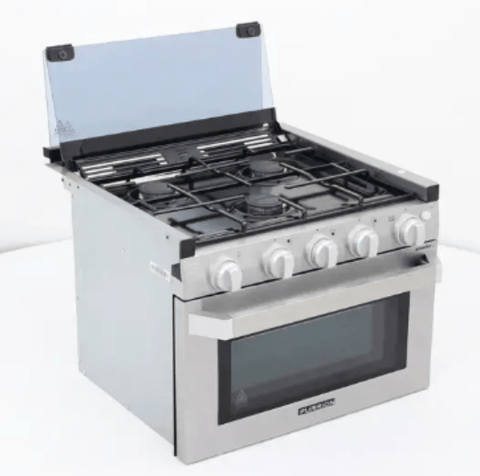 Furrion FSRE21SA-SS RV Range/Oven (Front View) - Campervan HQ