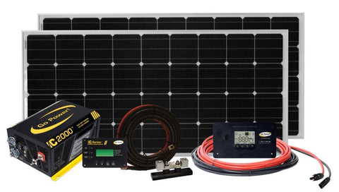 Go Power Solar Elite 340W RV Solar Kit - Campervan HQ