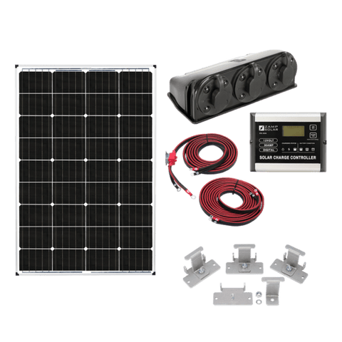 RV Solar Kit: US 115-Watt Deluxe Kit