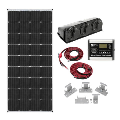 RV Solar Kit: US 170-Watt Deluxe Kit
