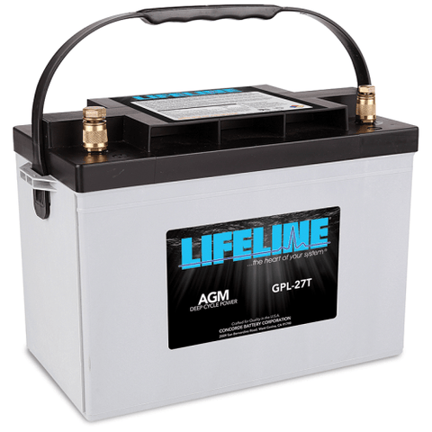 Lifeline AGM Deep-Cycle RV Battery, GPL-27T 12V 100AH - Campervan HQ