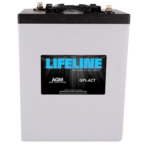 Lifeline AGM Deep-Cycle RV Battery, GPL-6CT 6V 300AH - Campervan HQ