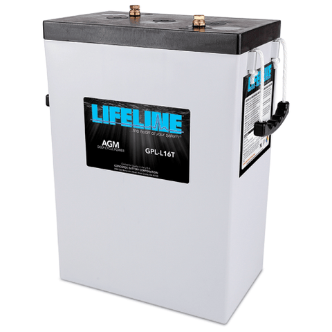 Lifeline AGM Deep-Cycle RV Battery, GPL-L16T 6V 400AH - Campervan HQ