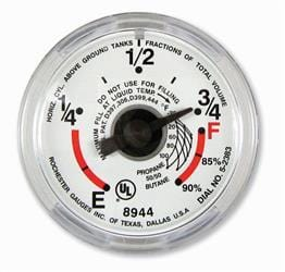 Snap-on Gauge for Manchester Underbody RV Propane Tank - Campervan HQ