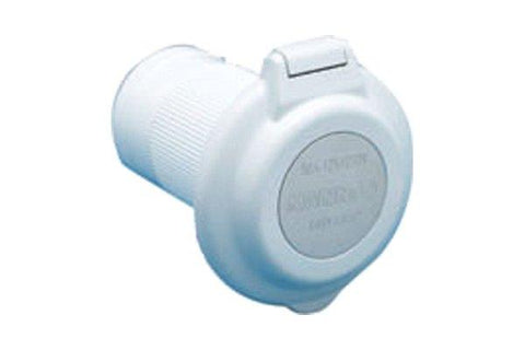 Marinco Power Inlet (50A, Round, White)