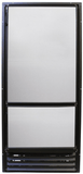 Nova Kool RFU8220 RV Refrigerator Front View (with White Panel)-Campervan HQ