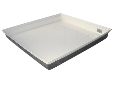 "RV Shower Pan (27"", White) - Campervan HQ"