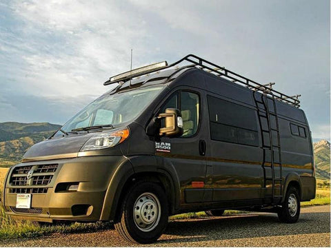 "Ram Promaster 159""WB Roof Rack (Touring Style with Front Drop-down) - Campervan HQ"