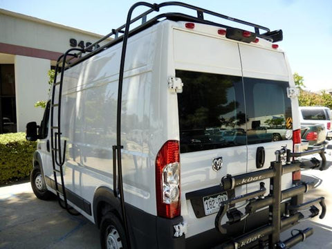 "Ram promaster 136""WB Van with Surf Poles and Surf Hooks - Campervan HQ"
