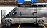 "Ram Promaster 159""WB Roof Rack (Double-Loop Rack with Surf Pole, Side Ladder and Mounted Rocket Box) - Campervan HQ"