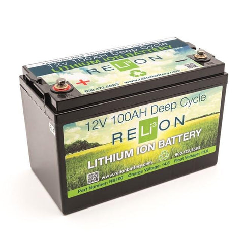 RELiON RB100 12V 100Ah Lithium Deep-Cycle RV Battery - Campervan HQ