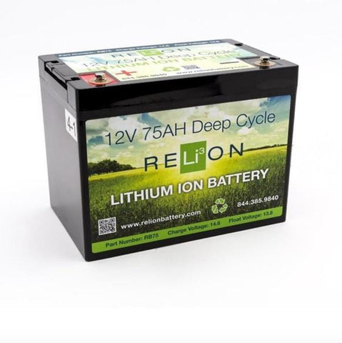 RELiON RB75 12V 75Ah Lithium Deep-Cycle RV Battery - Campervan HQ